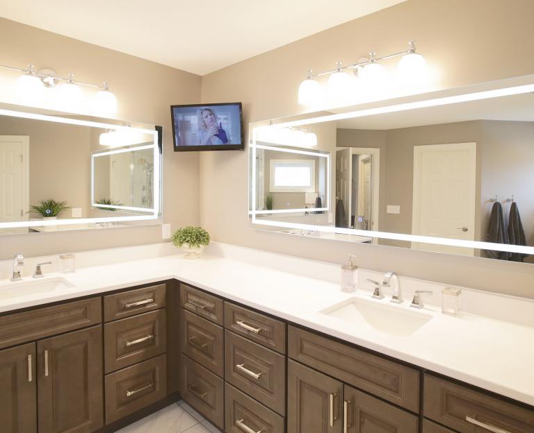 Backlit vanity mirrors