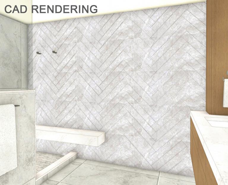 Herringbone Tile Accent Wall